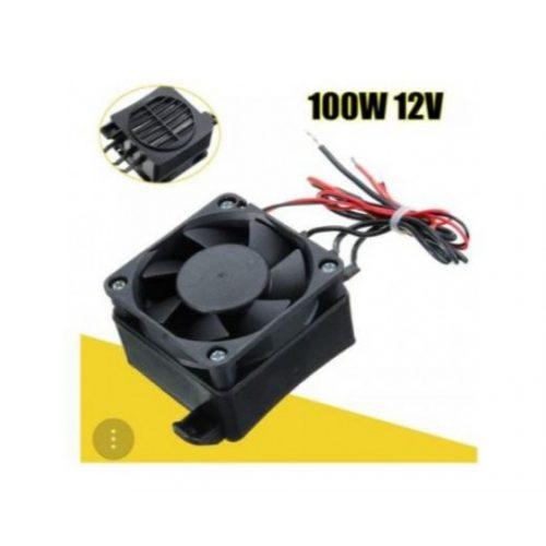 12V fan with 100W heater