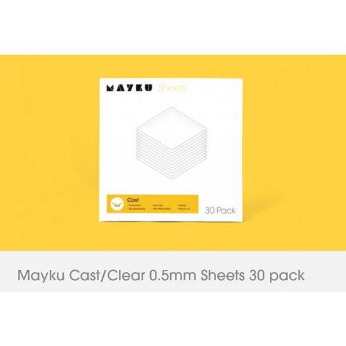 Mayku - Cast/ Clear Sheets 0,5mm 30db