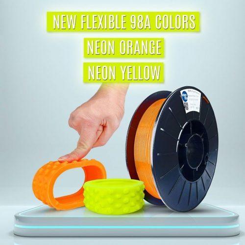 Azure: TPU medium (shA98) - neon narancs